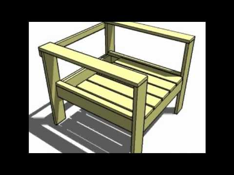 Knock-Off Wood Simple Lounge Chair, NARRATED