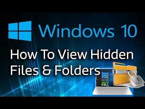 Windows 10 Tutorial - How To View Hidden Files & Folders Hindi