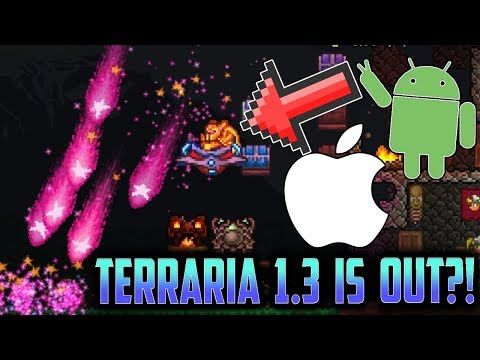 TERRARIA 1.3 FOR MOBILE iOS/Android?! Terraria Early 1.3 New Update Gameplay