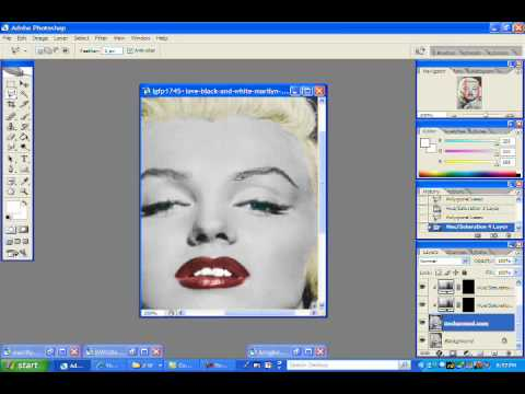 changing a black and white image into colour in adobe photoshop cs2