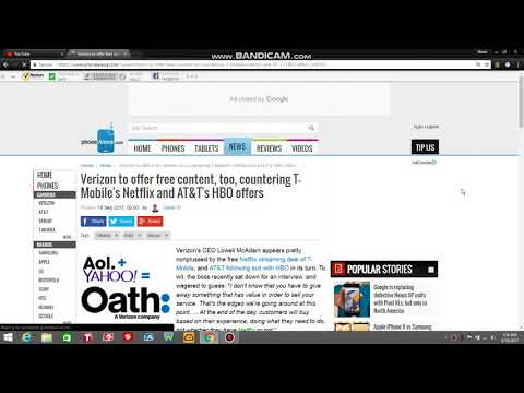 Verizon Wireless to Offer Its Customers Free Content (AOL + Yahoo! = Oath)