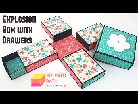 Explosion Box with Drawers\Storage Explosion Box Tutorial by Srushti Patil