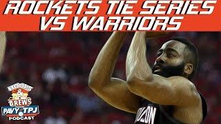 Rockets Defeat Warriors in Game 4 Reaction | Hoops N Brews