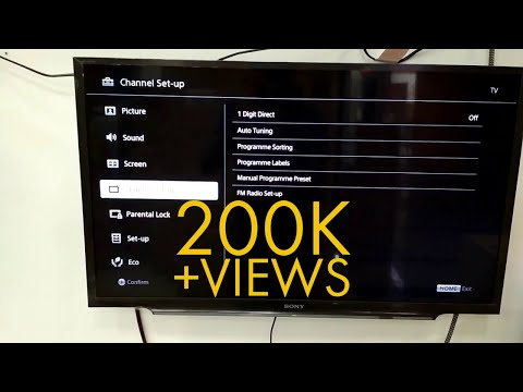 Sony Bravia TV Channel Set Up + Auto Tuning Bangla