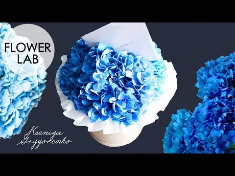Making Flower BOUQUET  DIY HYDRANGEA GIFT BOX Букет в коробке BLUE BOUQUET  Mini Flower Bouquet