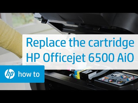 Replacing a Cartridge - HP Officejet 6500 All-in-One