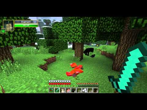 Minecraft How to tame a baby elephant