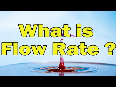 What is Flow rate in hindi?|Define Flow rate|Explain Flow rate in fluid mechanics
