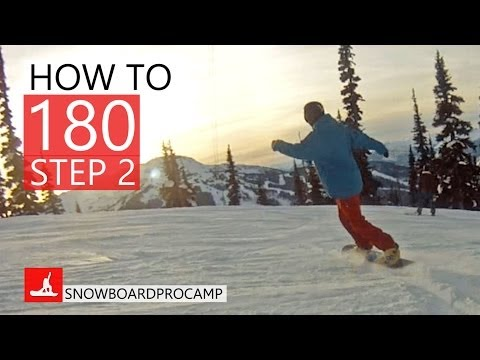 How to 180 on a Snowboard Step 2 - Snowboarding Tricks
