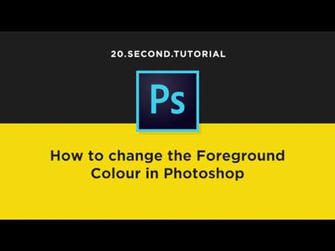 Pick and change the foreground Color in Photoshop   Adobe Photoshop Tutorial #11