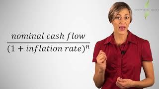 Nominal versus real cash flows