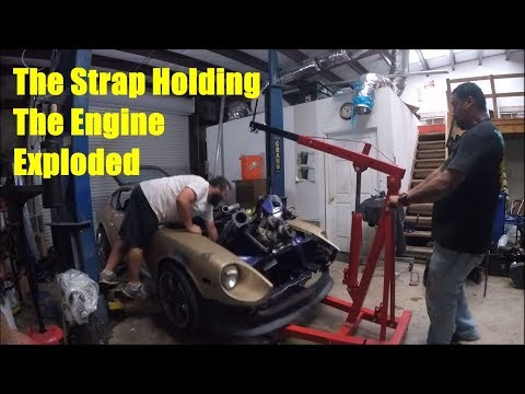 Engine Hoist Strap Explodes!!!