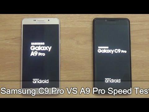 Samsung C9 Pro VS Samsung A9 Pro !! Speed Test !! HINDI !!