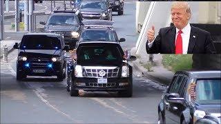 Trump massive Motorcade in Paris