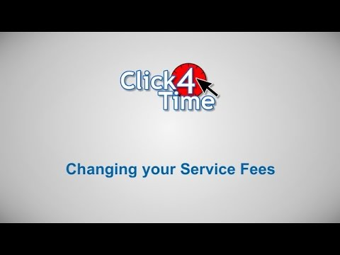 Click4Time - Changing your Service Fees