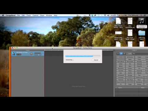 Cut and edit mp3 in Garage Band