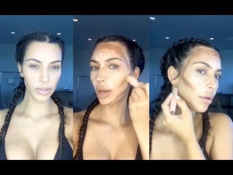 Kim Kardashian's KKW Beauty Makeup Tutorial (FULL) Contour Kit