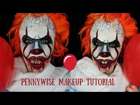 2017 Pennywise makeup tutorial | Making your own teeth