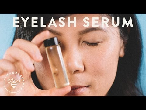 Grow Lashes with DIY Eyelash Growth Serum - NATURAL BEAUTY SERIES