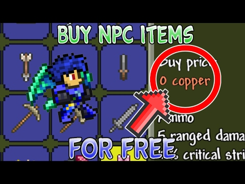BUY SHOP ITEMS FOR FREE!! Terraria 1.2.4 iOS/Android Unlimited Coins/Free Items Glitch WORKING 2017