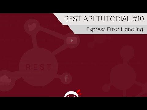 REST API Tutorial (Node, Express & Mongo) #10 - Error Handling