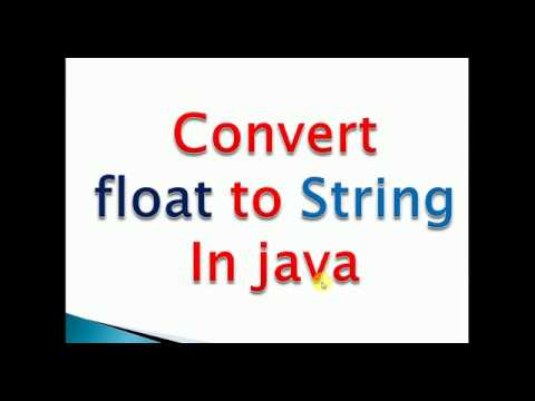 convert float to string in java example
