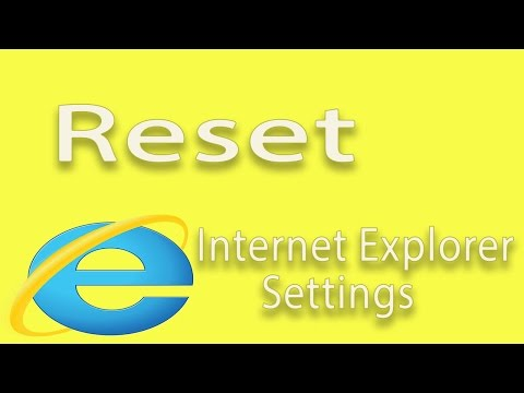 Windows - How to reset Internet Explorer settings to default