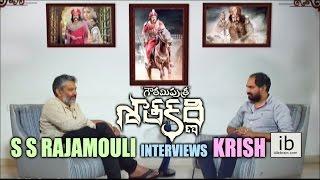 S S Rajamouli interviews Krish for Gautamiputra Satakarni - idlebrain.com