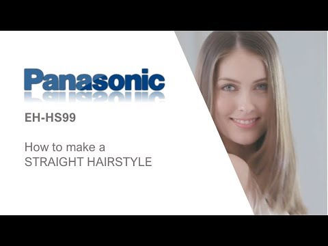 How to create a straight hairstyle with the Panasonics EH-HS99 hair straightener