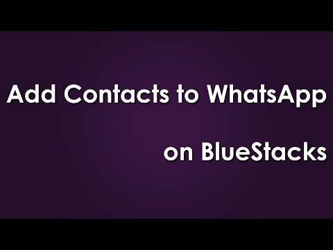 How To Import  Contact List On Whatsapp ( Bluestack)