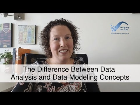 The Difference Between Data Analysis and Data Modeling Concepts
