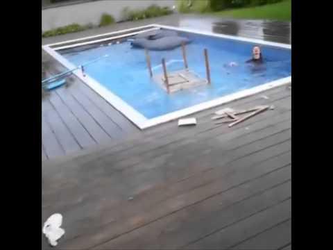 Homemade Diving Board Fail