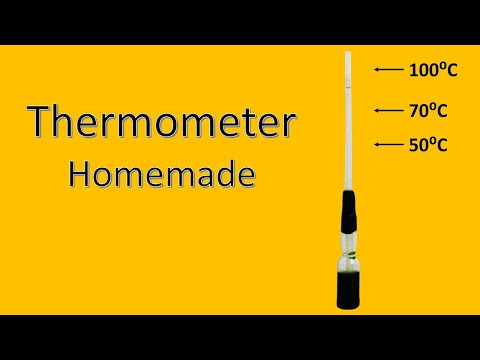 How to make a Thermometer at home for kids to paly and learn science