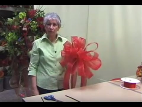 How to Make a Christmas Tree Bow Topper- Nancy Alexander (2016 edition)