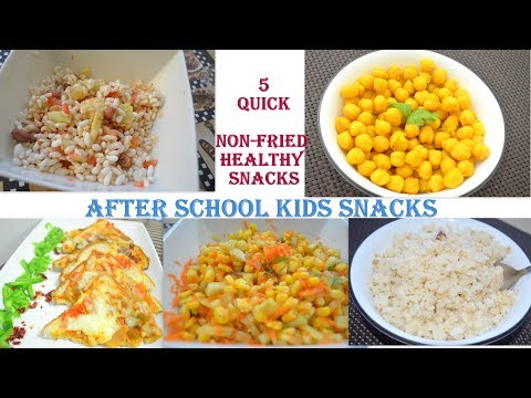 Quick Non Fried Snacks for Kids ||Quick and Healthy Snacks recipes||No Fry Snacks