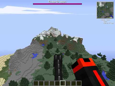Minecraft: Riding a controllable Ender Dragon (Citizens plugin)