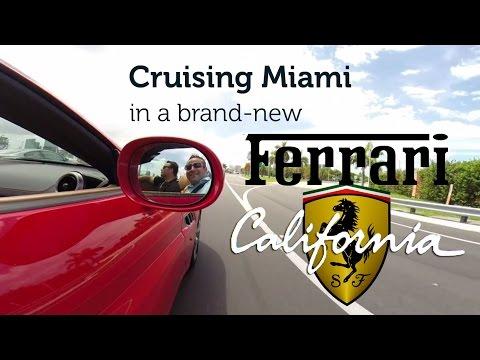 Cruising Miami in a brand-new Ferrari California