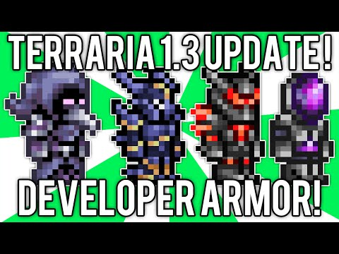 Terraria 1.3: How to get Developer Armor, Wings, & Dye! (Terraria 1.3 Update Change) @demizegg
