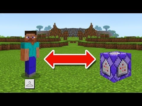 How to BECOME any BLOCK in Minecraft! - Minecraft Pocket Edition