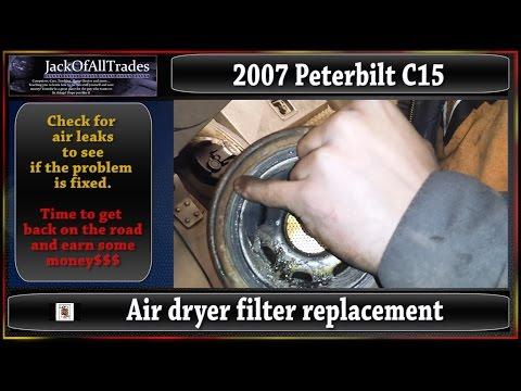 Trucking 101 Air Dryer Filter replacement on a 2007 Peterbilt C15