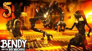 *SECRET ENDING* TOM AND ALICE FIGHT BENDY!   Bendy and the Ink Machine [Chapter 5] Hacking & Secrets