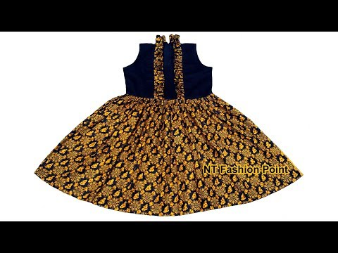 How to make new spring summer baby dress cutting & stitching