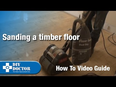 Sanding a timber floor part one - Using a drum sander
