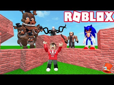 BUILD TO SURVIVE THE EVIL MONSTERS IN ROBLOX! (RedHatter Roblox)