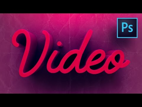 How to Make Colorful 3D Text Photoshop CC Tutorial