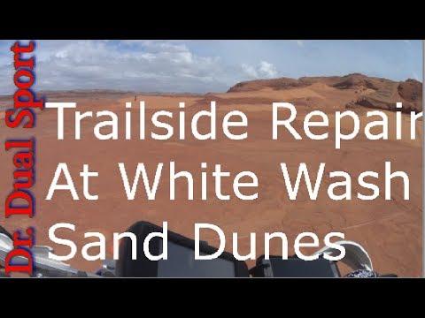 Trailside Repair At White Wash Sand Dunes
