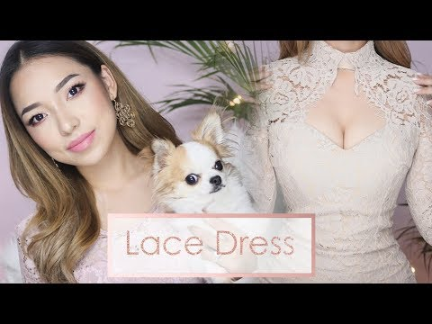 Every girl should own a Nude Lace Dress! Its so Classy & Sexy   Try-On Haul Ft. YesStyle