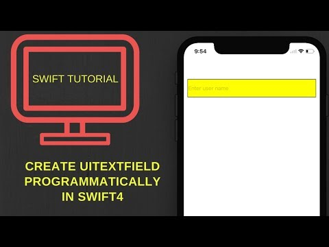 Create UITextField programmatically in swift 4