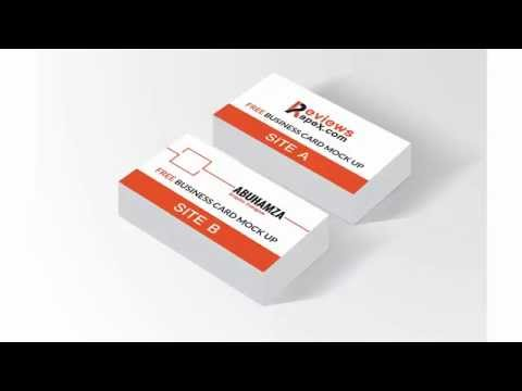 Free Download Realistic Business Card Mockup
