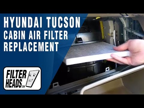 How to Replace Cabin Air Filter Hyundai Tucson - With Tray